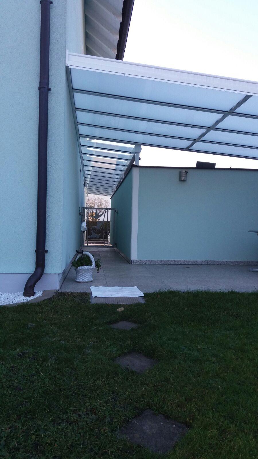 Terrassendach für den Hauszugang, Haus-Bauelemente24