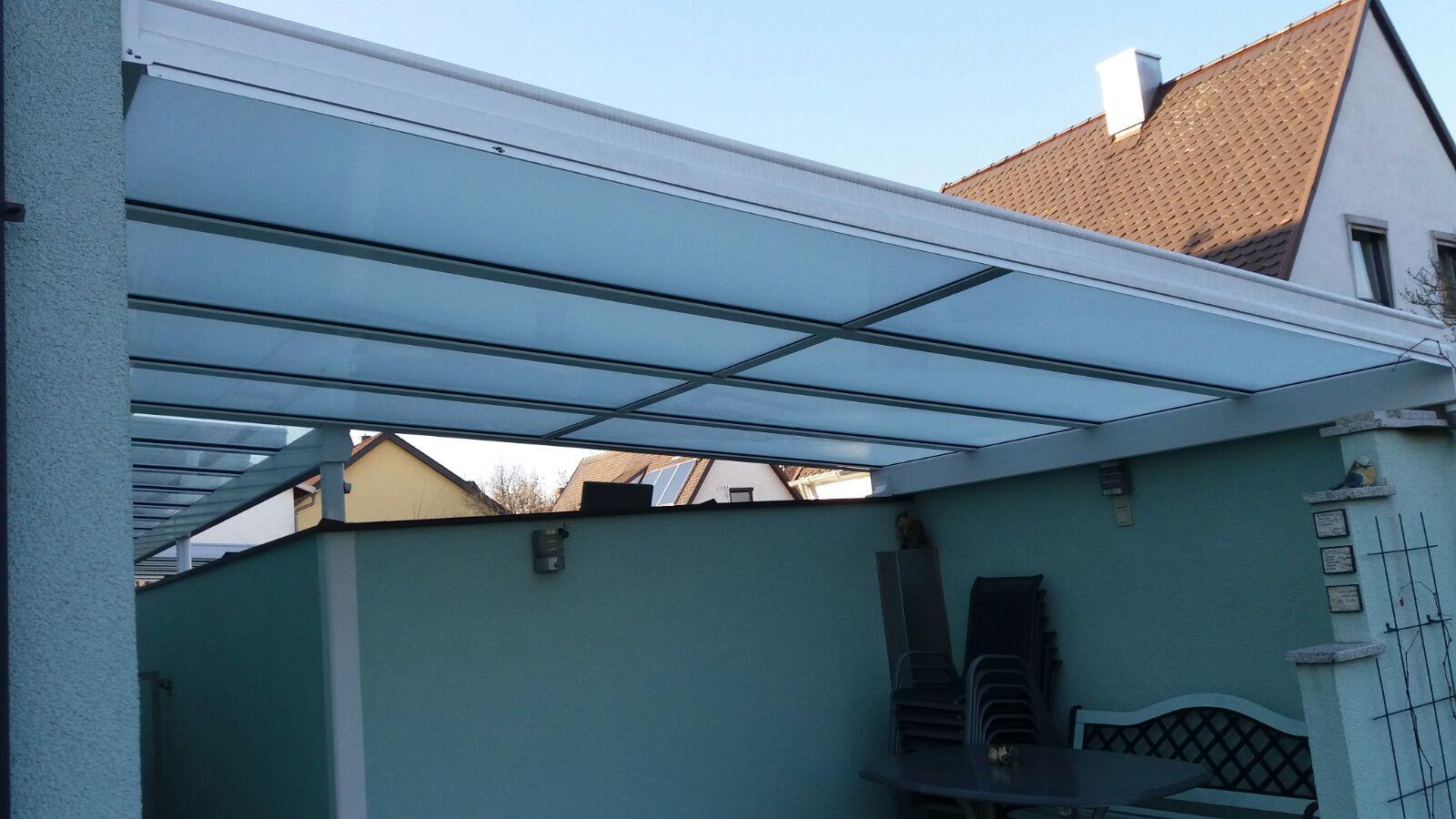 Terrassendach aus Aluminium und Glas von Weinor, Haus-Bauelemente24