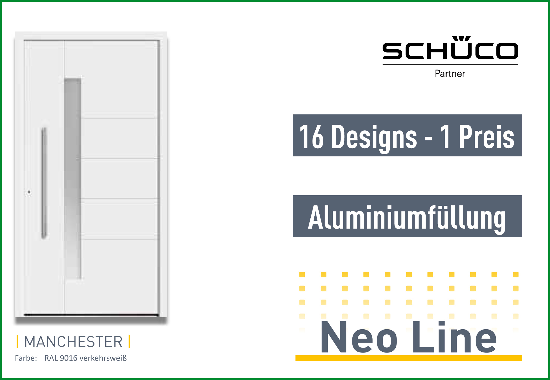 Schüco Neoline Aluminium Haustüren